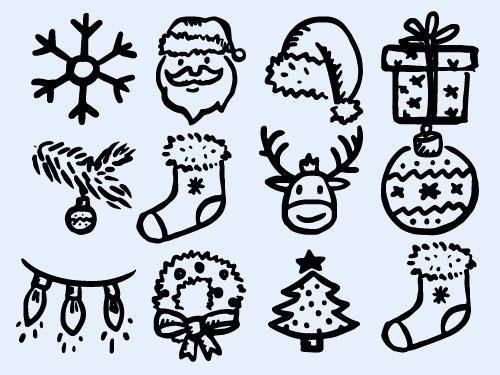 简笔画圣诞帽png图标