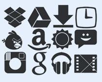 黑色风格的游戏图标PNG图标