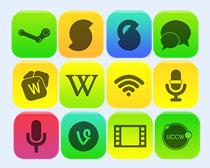 各种颜色手机桌面显示PNG图标