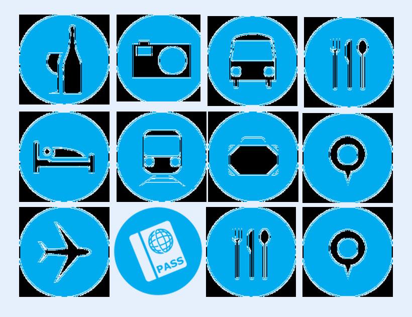 爱图首页 图标素材 创意图标 旅行 蓝色 飞机图标 旅游图标 床铺 巴