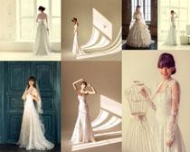 室内婚纱国外女人摄影高清图片