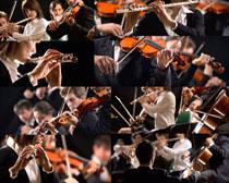 拉提琴的职业人物高清图片