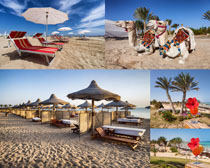 旅游風光休閑沙灘攝影高清圖片