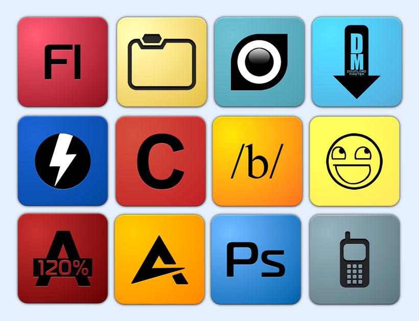简约风格手机软件png图标