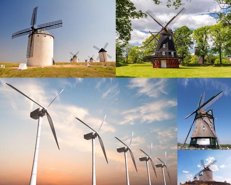 风车与自然风景高清图片