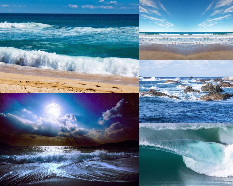 沙滩上的工具摄影高清图片 绿树下的阳光摄影高清图片 海岛山峰景观