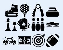 黑色风格体育运动项目PNG图标