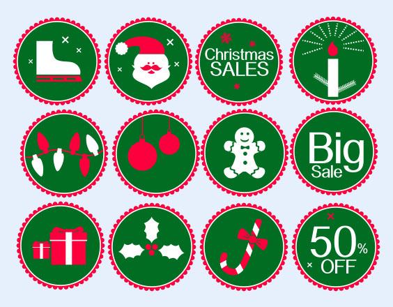 圣诞树风格社交媒体png图标