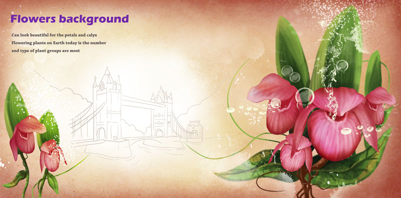 psd素材 花边花角 > 素材信息   关键字: 手绘花朵封面设计绘画建筑图片