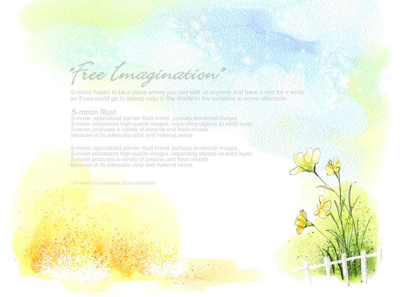psd素材 自然生态 花朵摄影 贺卡 封面 背景 漂亮 梦幻 装饰 绘画