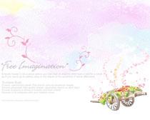 梦幻粉红封面绘画PSD素材