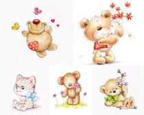漫画小熊摄影高清图片