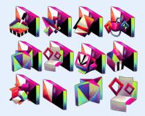 菱形钻石PNG图标