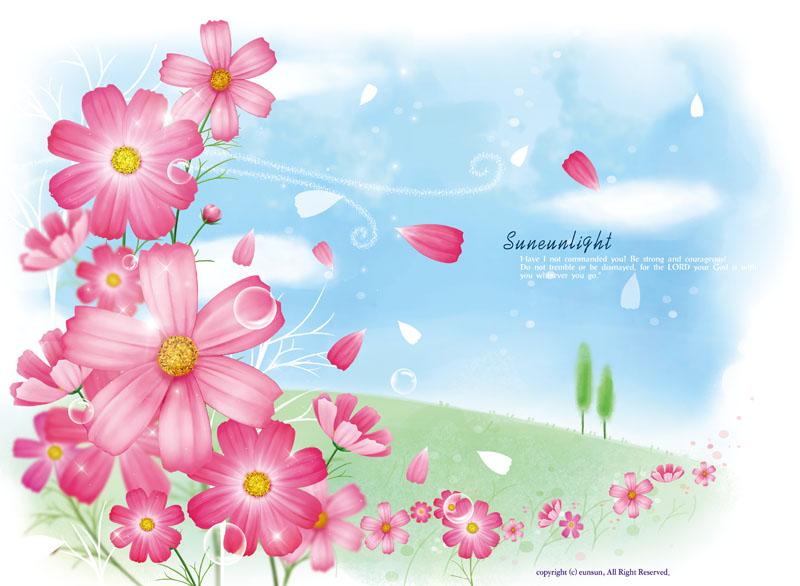 花朵边框边角psd素材