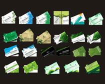 环保名片卡片设计矢量素材
