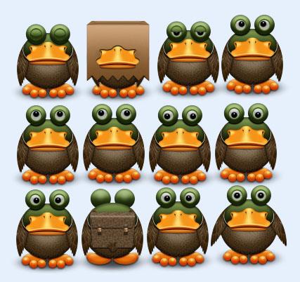 可爱的青蛙软件PNG图片-爱图网设计图片素材制作动态包的表情表情图标图片