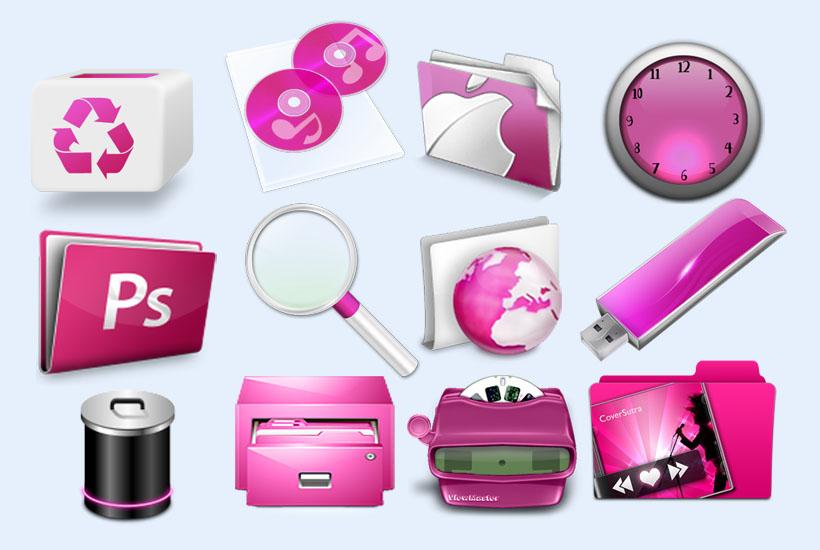 爱图首页 图标素材 创意图标 垃圾桶 u盘 光盘 放大镜 苹果文件夹