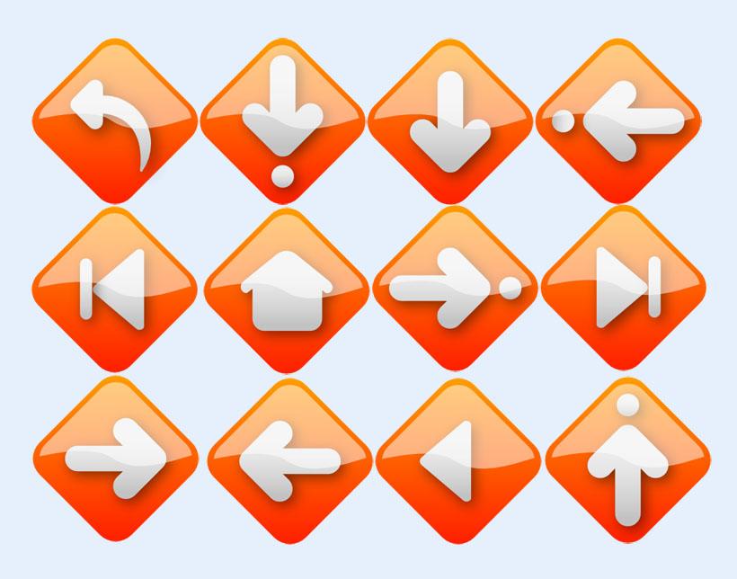 后退向左向右向上向下返回下载箭头图标下载png图标-而圆弧嘴向上
