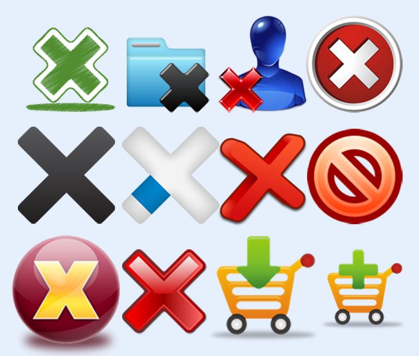 关键字: 删除添加修改提示购物车箭头无法点击打叉心形图标png图标