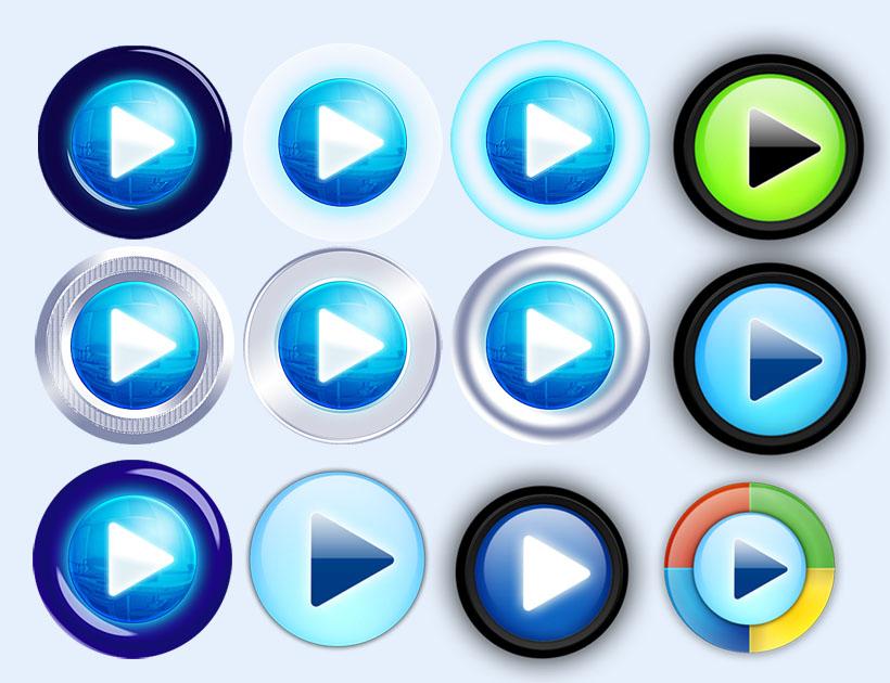 播放器按钮PNG图标