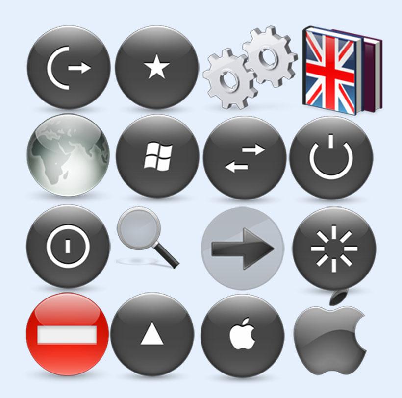 灰色,windows显示png图标图片