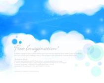 蓝色天空背景PSD素材