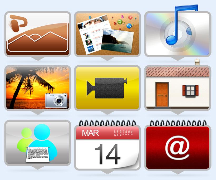 方形电脑相册png图标 - 爱图网设计图片素材下载