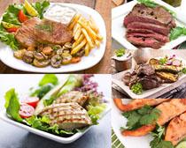 烤鱼肉块美食高清图片