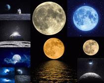 月圆月亮摄影高清图片