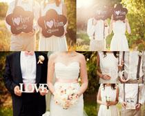 穿婚纱的情侣摄影高清图片