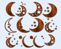 棕色的月亮PNG图标