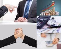 金融合作商谈摄影高清图片