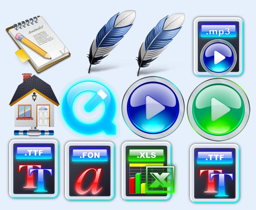 png按钮图标下载_21个圆形常用按钮png和ico图标下载按钮图标