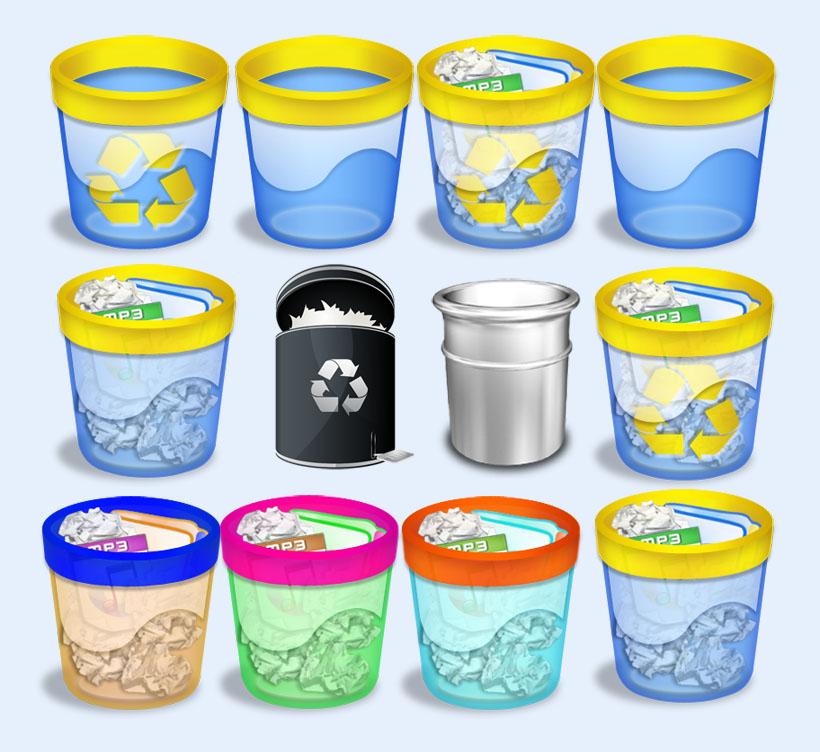 回收站_电脑回收站PNG图标 - 爱图网设计图片素材下载
