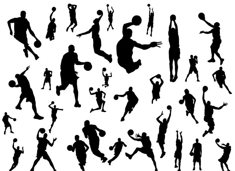 篮球图片素材_墨迹和篮球矢量素材下载体育运动