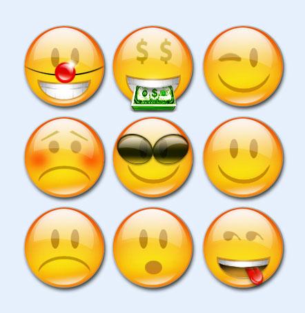 黄颜色的qq表情png图标