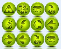 绿色的月亮标志PNG图标