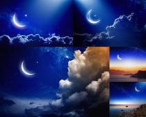夜色月亮景观高清图片