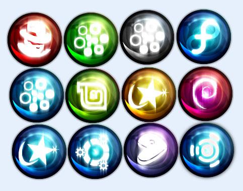 彩色的水晶球png图标