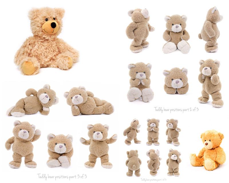玩具毛绒熊摄影高清图片