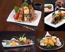 国外烤鱼美食高清图片