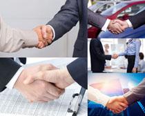 成功合作握手摄影高清图片