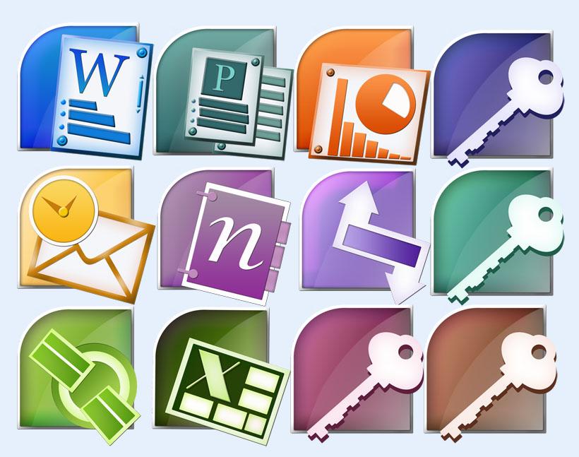 爱图首页 图标素材 系统图标 office 办公软件 钥匙 数据库 邮件 系统图片