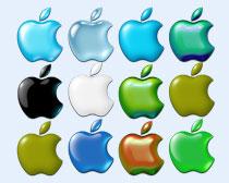 绿色的苹果标志PNG图标