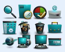 蓝色的工具箱PNG图标
