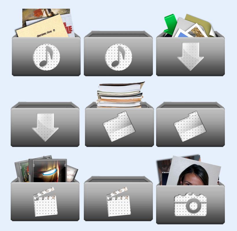 灰色的电影文件夹png图标 - 爱图网设计图片素材下载