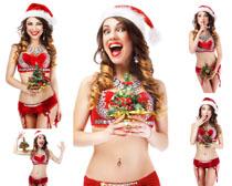 圣诞快乐女子摄影高清图片