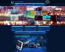 淘宝车载电子用品促销页面设计PSD素材
