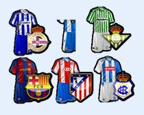 各种足球队服PNG图标