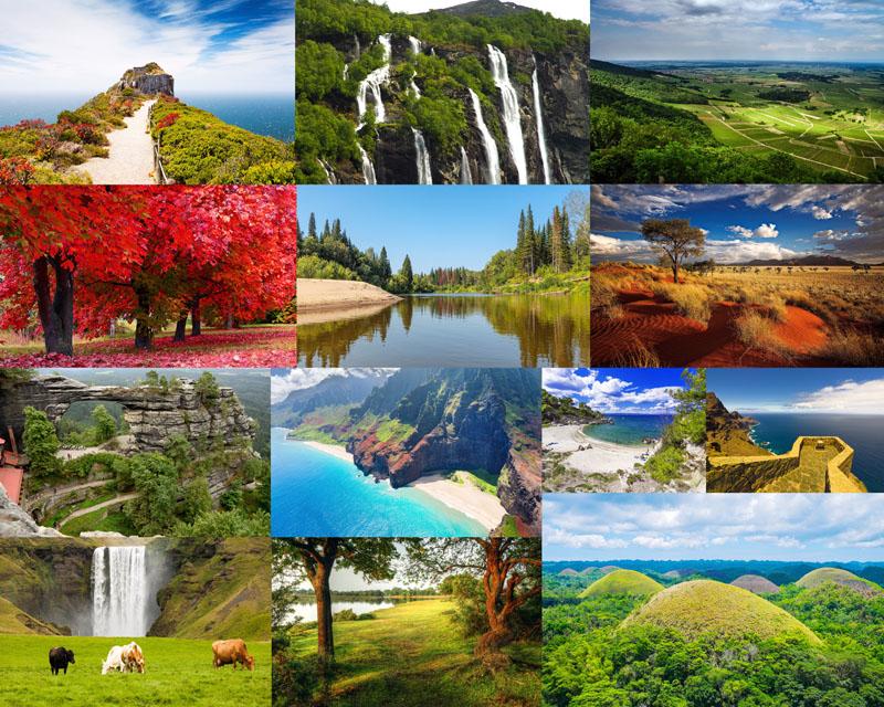 高清图片 自然风光 > 素材信息   关键字: 自然风景绿色风景山川河流